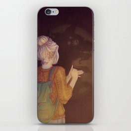 Shadows Lady iPhone Skin