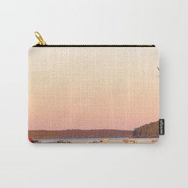Pink Sunset Over the Harbor Carry-All Pouch