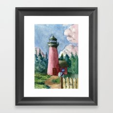 Cozy Lighthouse Framed Art Print