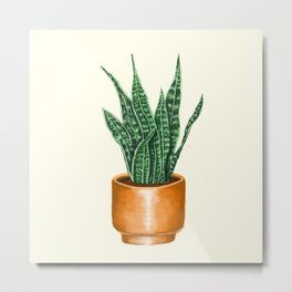 Potted Plant Baby Metal Print