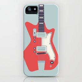 Retro 60s Guitar - Grey iPhone Case