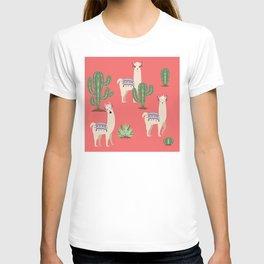 Llama with Cacti T-shirt