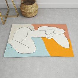 Matisse Minimal Art, Matisse Art Print, Mid Century Wall Art, Woman Minimal Sketch, Modern Art Rug