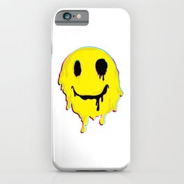 Happy Melted Smiley Face print | Psychedelic LSD Funny Trip product iPhone Case