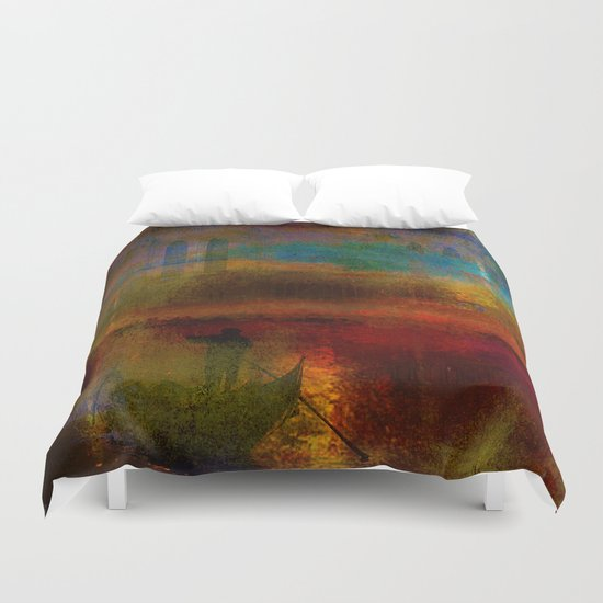 The return of the gondolier Duvet Cover