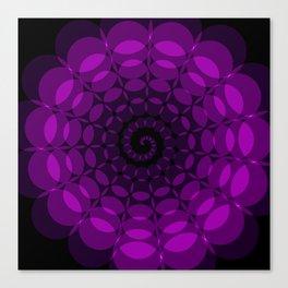 complex purple spiral Canvas Print