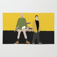 breaking bad Area & Throw Rugs featuring Breaking Bad by Bill Pyle