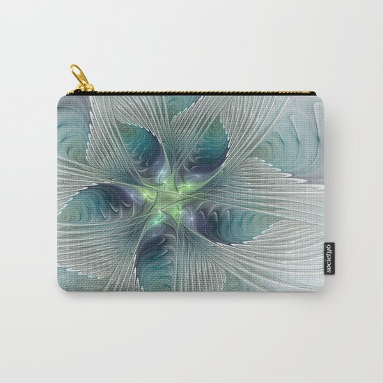 A Floral Fantasy, Abstract Fractal Art Carry-All Pouch