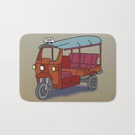 Red tuktuk / autorickshaw Bath Mat