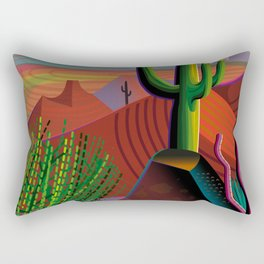 Gila River Landscape Rectangular Pillow