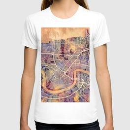 New Orleans City Street Map T-shirt