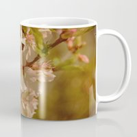 cherry blossoms Mugs featuring Cherry Blossoms by Dorothy Pinder