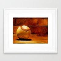 baseball Framed Art Prints featuring Baseball by Michelle Sauer