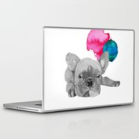 french bulldog Laptop & iPad Skins featuring French Bulldog  by Olivia James