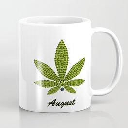 Birthstoned Leaf of Month, August Peridot Coffee Mug