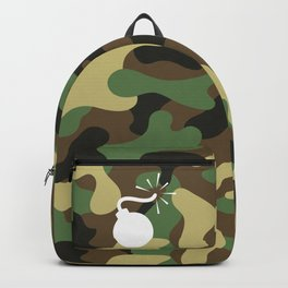 CAMO & WHITE BOMB DIGGITY Backpack