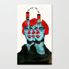 The cats in my head Canvas Print