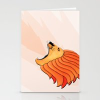 lion Stationery Cards featuring Lion by Nir P