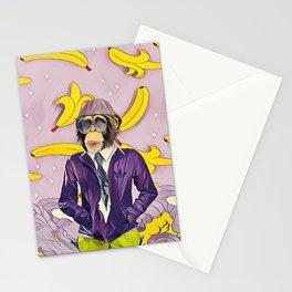 Chimpanzee and banana Stationery Cards