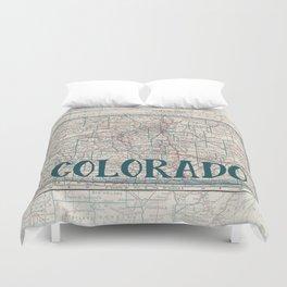 Colorado Map Duvet Cover