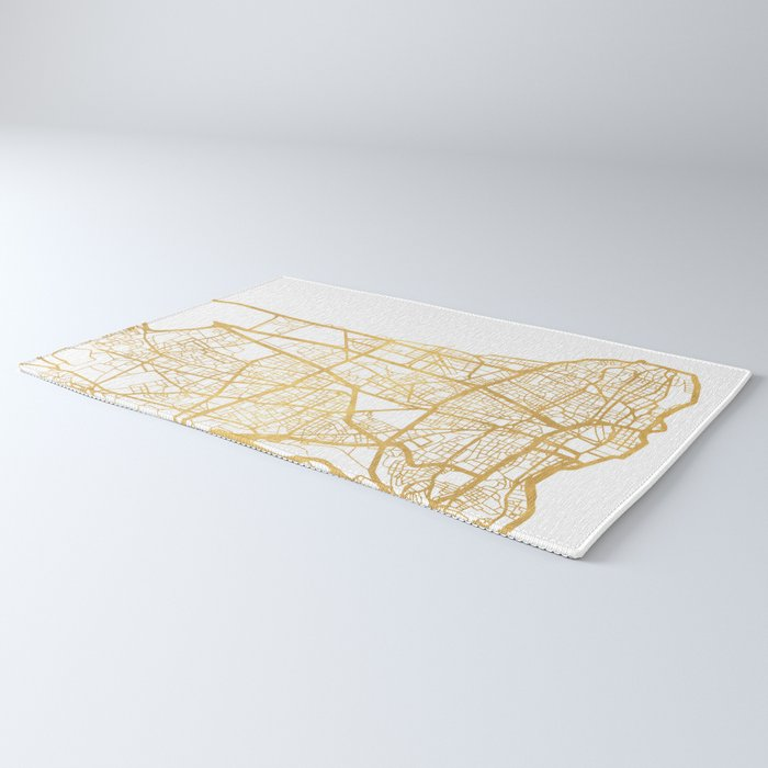 BEIRUT LEBANON CITY STREET MAP ART Rug