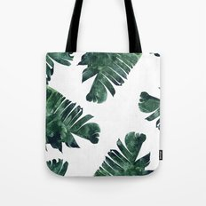 Banana Leaf Watercolor Pattern #society6 Tote Bag