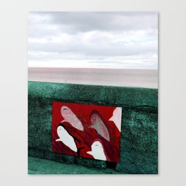 red sharks Canvas Print