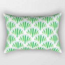 Beautiful Green Scalloped Rectangular Pillow