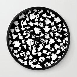 Black and White Minimal Mosaic Pattern Wall Clock