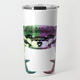 Two Sides - Duality Crab Art Travel Mug