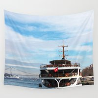 ship Wall Tapestries featuring Ship by kartalpaf