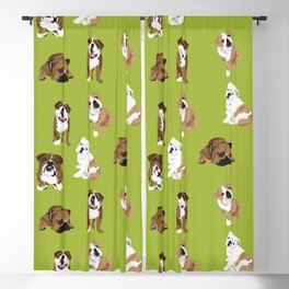Bulldogs on Moss Blackout Curtain