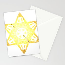 Metatron's Cube Time Wheel ~ Blast Off to Enlightenment Stationery Cards