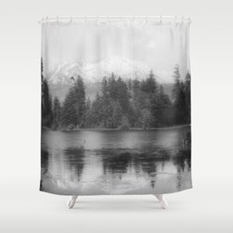 View of Mount Shasta Shower Curtain