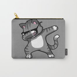 Dabbing Cat Grey Carry-All Pouch