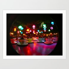 Disneyland Teacups  Art Print