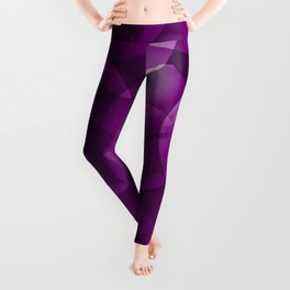 Dark intersecting purple translucent circles in bright colors with a blueberry glow. Leggings