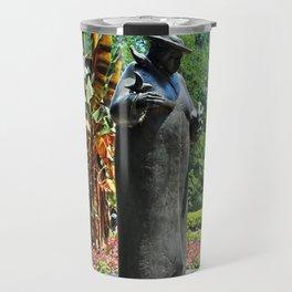 Woman with the Birds by Joe Ann Cousino V Travel Mug