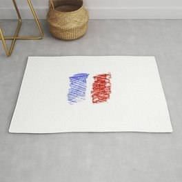 Flag of France 12- France, Français,française, French,romantic,love,gastronomy Rug