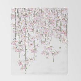 pink cherry blossom spring 2018 Throw Blanket