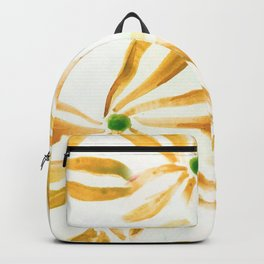 Golden Yellow - Large Flower Pattern Backpack