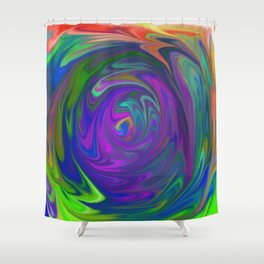 Color Tunnel Shower Curtain