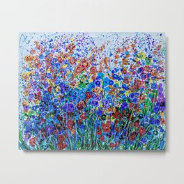 Absract Flowerscape Painting Metal Print
