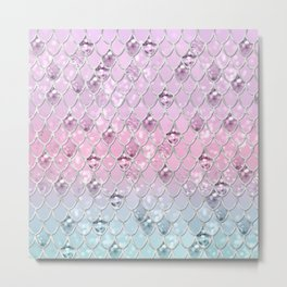Mermaid Princess Glitter Scales #1 #shiny #pastel #decor #art #society6 Metal Print