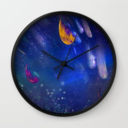 Moon Galaxy Wall Clock