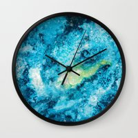 universe Wall Clocks featuring Universe by Melike
