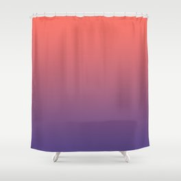Living Coral Ultra Violet Gradient Pattern Shower Curtain