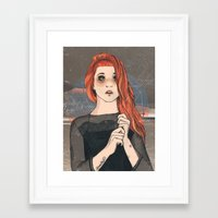 hayley williams Framed Art Prints featuring Hayley by Clementine Petrova
