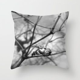 Claddagh Ring Throw Pillow