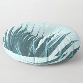 Blue Palm Leaf Floor Pillow
